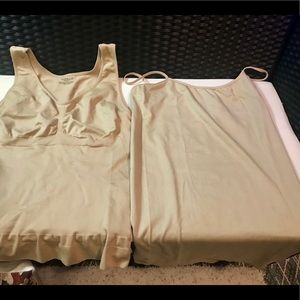 Two Tan Camis, Camishaper Size 2X